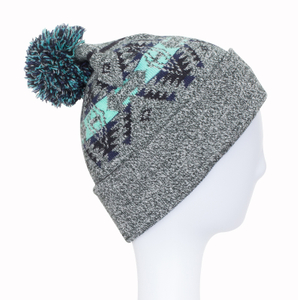 Wholesale Customized Jacquard Knitted Hat/Cap Beanie Hat Unisex hats with Pom pom