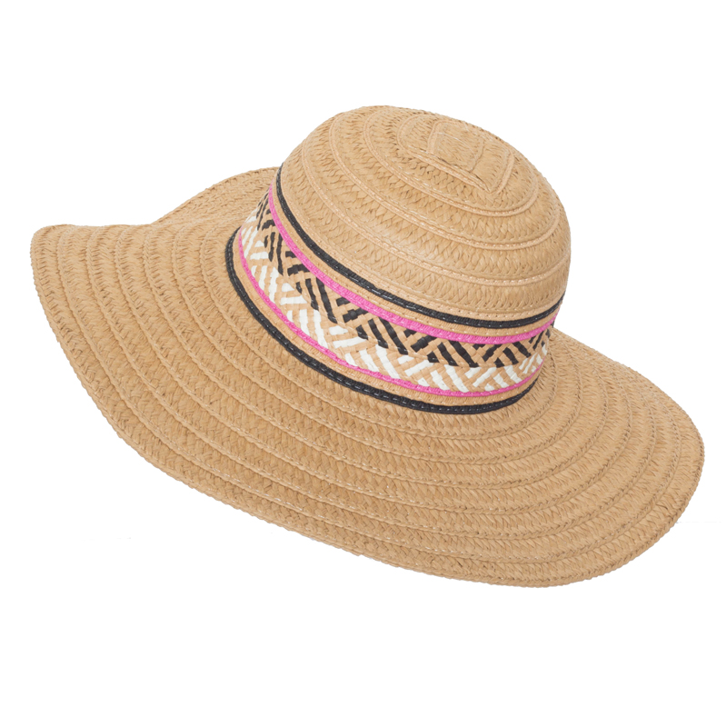 Lady Fashion New Design 100% Paper Straw Women Colorful Hat