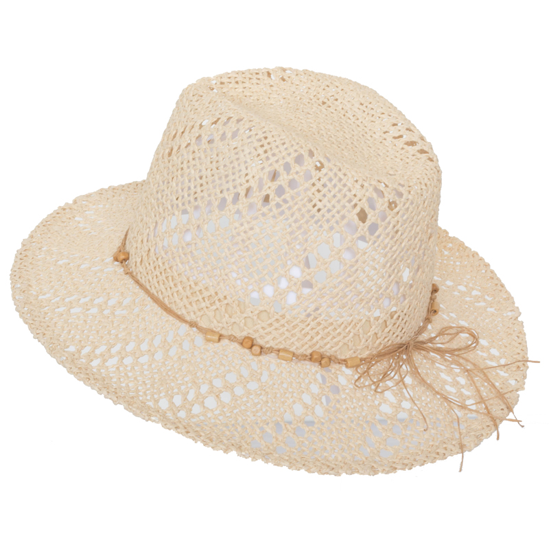2018 New Design Lady Sun Hats Hand Crocheted Pattern Paper Straw Women Hat
