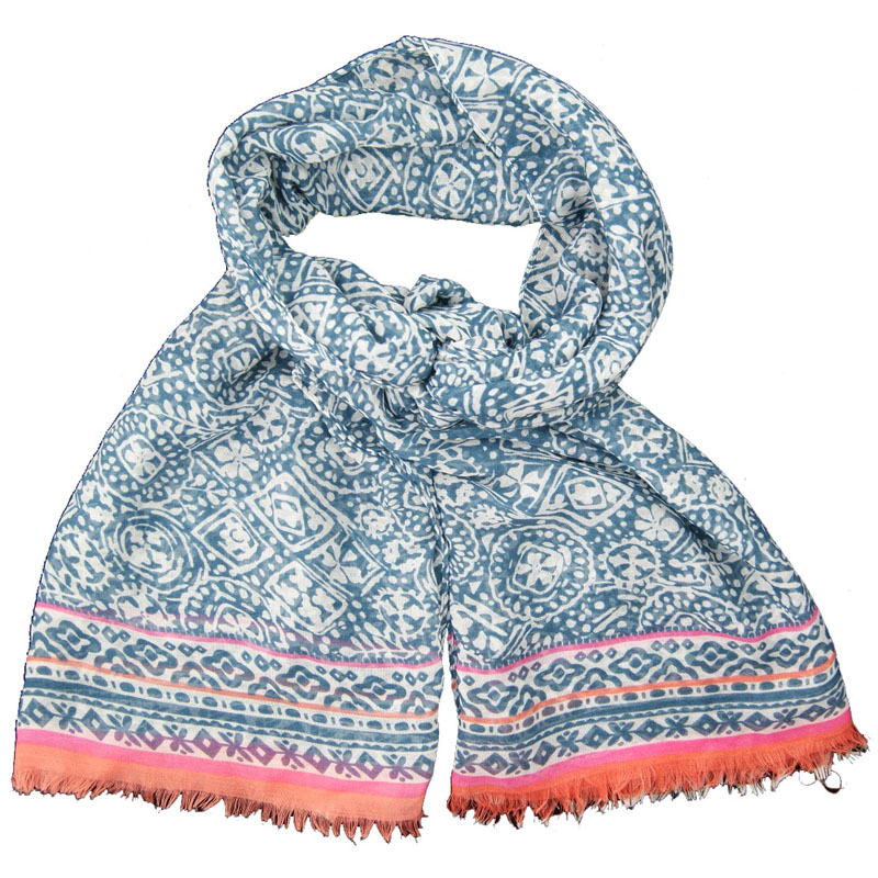 100% Polyester Customized Wholesale Lady Fashion Jacquard Woven Scarf