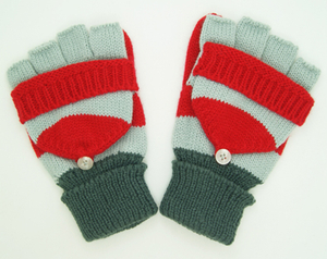 New Design Colorful Acrylic Knitted Glove, Half Finger Gloves,Fingerless Gloves with Pocket