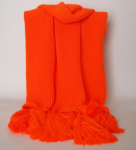 Acrylic Customized Wholesale Lady Fashion Knitted Scarf with Tassels