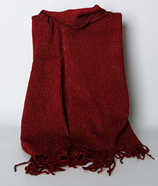 High Quality Acrylic Customized Wholesale Woven Scarf with Metal Yarn