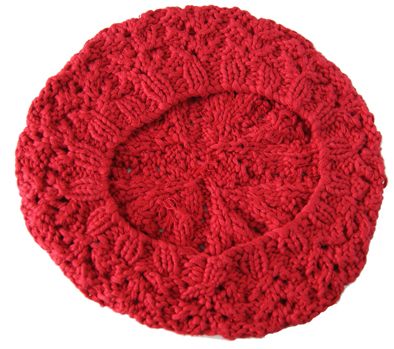 Wholesale Customized Red Beanie Winter Lady Colorful Cotton Knitted Beret