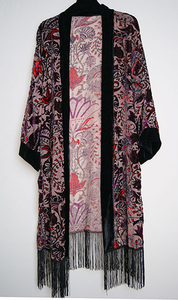 Women summer cape burn out polyester light floral printed long shawl