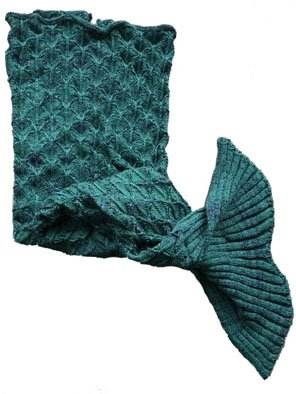 Knitted Sea-Maid Sleeping Bag Mermaid Tail Blanket , Gift for Kids and Adults