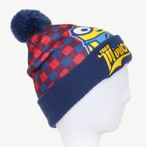 Cute Colorful 100% Acrylic Printed Cuffed Knitted Winter Beanie Hat