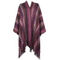 Wholesale Chunky Knit Incantation Patterned Design Pull-on Style Women Hoodie Poncho
