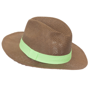 Unisex Fashion Handmade Weaving Fedora Hats Paper Straw Hat Beach