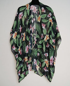 Latest design spring summer new custom-made flower printed shawls fashion print women cape shawl