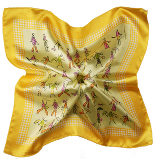 Silk Feeling Square Bandana Kerchief Neck Scarf for Women